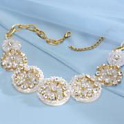 Aurora Beaded Circle Necklace