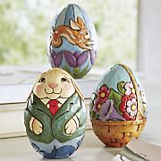 set of 3 springtime figurines