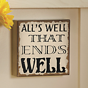 all s well sign