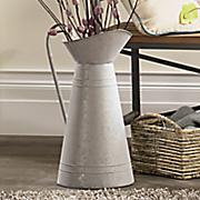 galvanized pitcher vase
