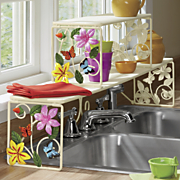 butterfly over the sink shelf