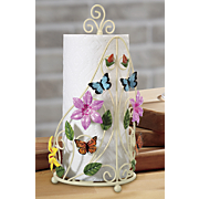 butterfly paper towel holder