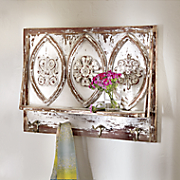 floral motif shelf
