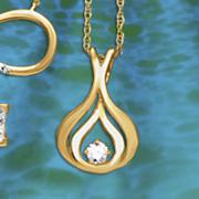 postpaid diamond pear frame pendant