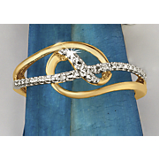postpaid diamond two tone intertwined ring