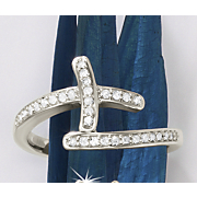 postpaid diamond cross ring