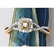 postpaid diamond square frame ring 27