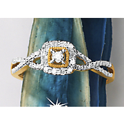 Diamond Square-Frame Ring