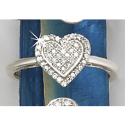 postpaid diamond heart cluster ring