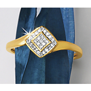 postpaid diamond shape diamond cluster ring