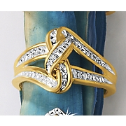 postpaid diamond intertwined ring