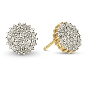 Diamond Round Cluster Post Earrings