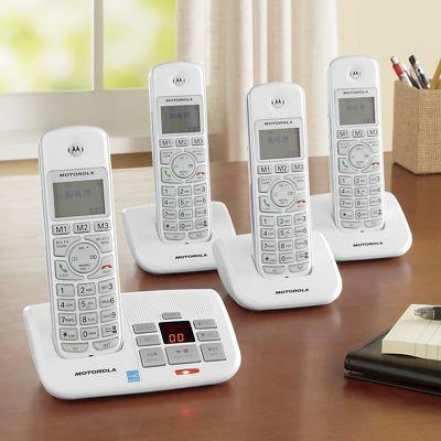 Motorola 4 Handset Cordless Phone/Answering System