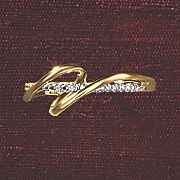 Postpaid Diamond Two-Tone Wrap Ring