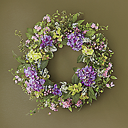 hydrangea mix wreath