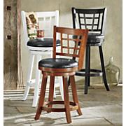 24 lattice back stool