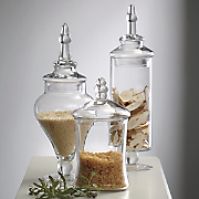 set of 3 apothecary jars