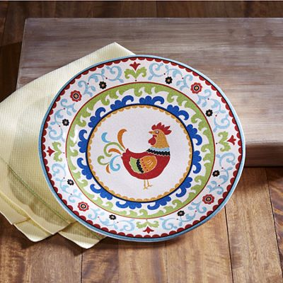 Suzani Rooster Dinnerware