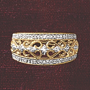 postpaid diamond filigree band
