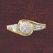 postpaid diamond round swirl ring