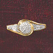 postpaid diamond round swirl ring