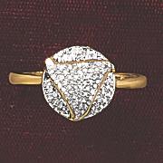 postpaid diamond round pave ring