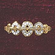 postpaid diamond ovals ring