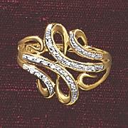 postpaid diamond ribbon swirl ring