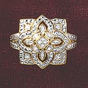 postpaid diamond vintage square ring