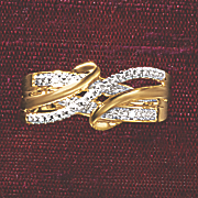 postpaid diamond 3 row wrap ring