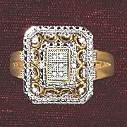 postpaid diamond vintage rectangle ring