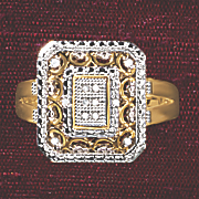 postpaid diamond vintage rectangle ring