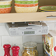 under cabinet cd clock radio