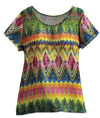 Zigzag Diamond Top
