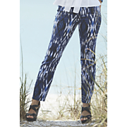Easy On The Ikat Ankle Jean