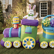 inflatable bunny train