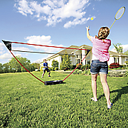 portable instant badminton kit by zume
