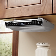 under the counter clock radio with cd and bluetooth by sylvania