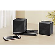 rechargeable bluetooth cube speaker duo by ilive