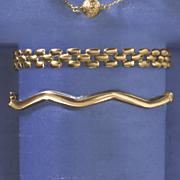 postpaid 10k gold wavy hinged bangle
