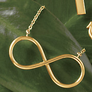 14k gold eternity necklace