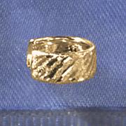 10K Gold Diamond-Cut Ear Cuff