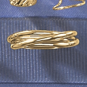 10K Gold 3-Band Linked Ring