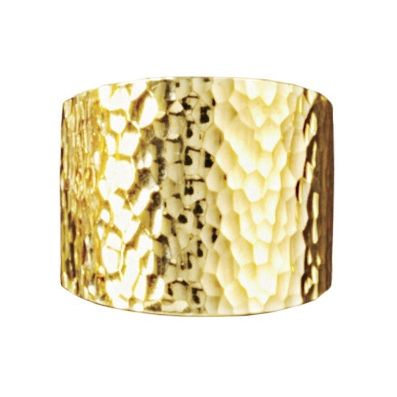 Nano Diamond Resin Hammered Wide-Band Ring