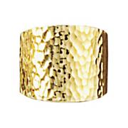 nano diamond resin hammered wide band ring