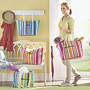personalized striped tote
