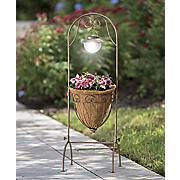 solar bronze plant stand