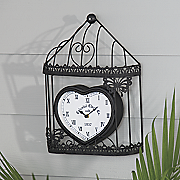 cage outdoor wall clock