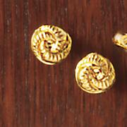 Gold Swirl Post Earrings