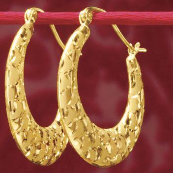 Gold Shiny/Matte Weave Hoops